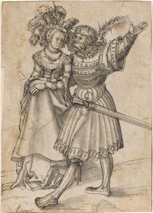Schreitendes Paar, um 1505-1509