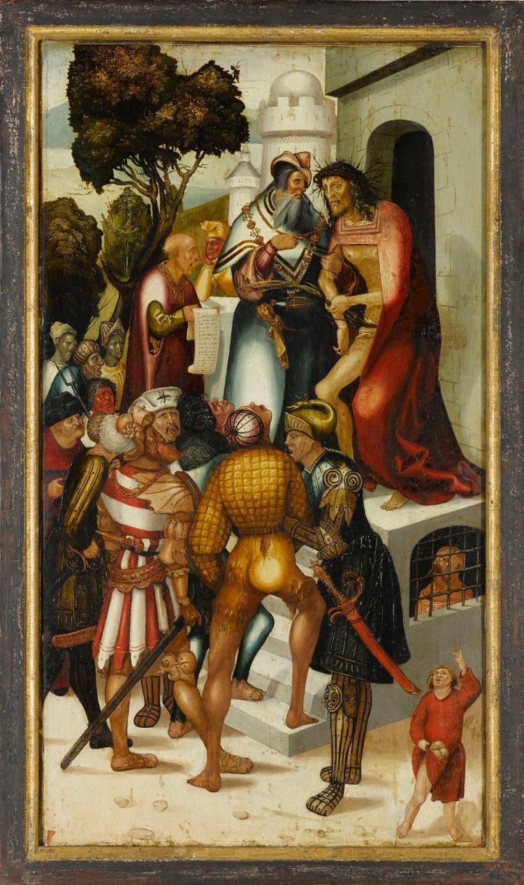Ecce homo (Innenseite), Maria der Verkündigung (Aussenseite)