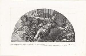 Der gefesselte Furor und die Zwietracht (Die Fresken in Florenz), 1691