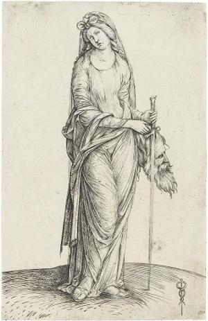 Judith mit dem Haupt des Holofernes, um 1501/02
