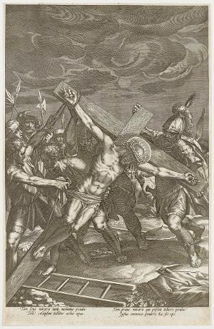 Die Kreuzaufrichtung (Die Passion Christi), um 1600