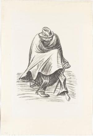 Vergnügtes Einbein II (Blatt 5 aus: Die Ausgestoßenen), 1922