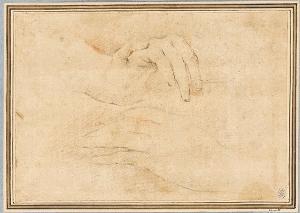 Studienblatt mit zwei Händen, um 1660/70