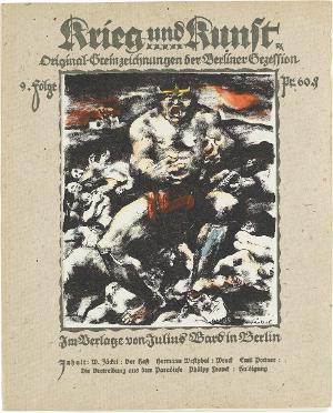 Der Hass (in: Krieg und Kunst. Original-Steinzeichnungen der Berliner Sezession, Folge 9 (Umschlag), 1915