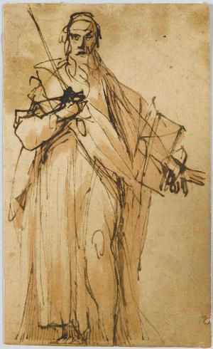 Der Apostel Paulus; Verso: Skizze zu einem heiligen Hieronymus, um 1600