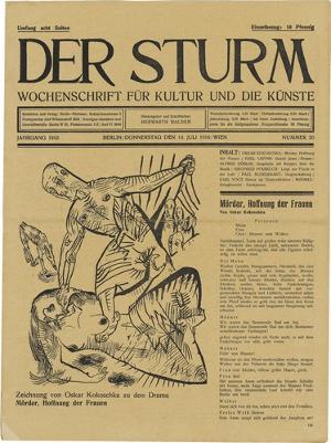 Mörder, Hoffnung der Frauen (in: Herwarth Walden (Hrsg.), Der Sturm. Wochenschrift für Kultur und Künste, 1. Jhg. 1910, Nr. 20, 14. Juli 1910), 1910