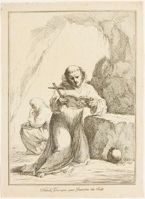 Der heilige Franziskus, nicht datiert