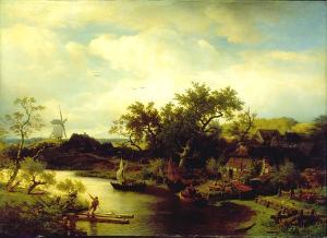 Niederländische Landschaft, 1860