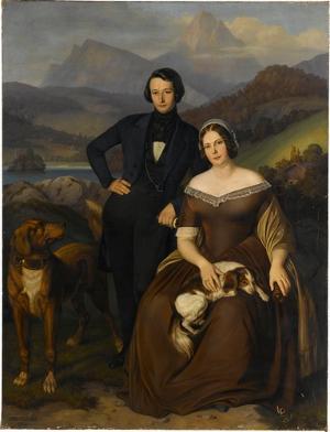 Der Philosoph Friedrich Rohmer und seine Frau, 1844