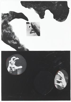 Kuss, Haare, Hand (Blatt 2 in: Hegels Keller), 1986