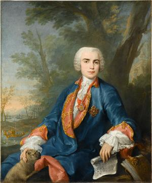 Bildnis des Sopranisten Carlo Broschi, genannt Il Farinelli, um 1752