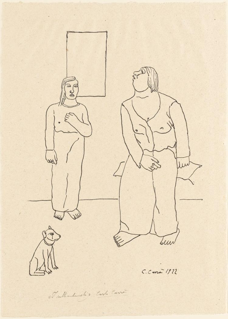 Die Gaukler (I Saltimbanchi) (Blatt 3 in: Bauhaus-Drucke. 4te Mappe)