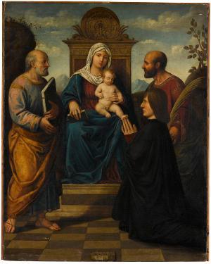 Maria mit Kind mit den Hl. Petrus und Markus, 1. Viertel 16. Jh.