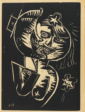 Der Kuss (Liebespaar) (S. 112 in: Neue Blätter für Kunst und Dichtung, 1. und 2. Jhg., Nr. 6), 1919