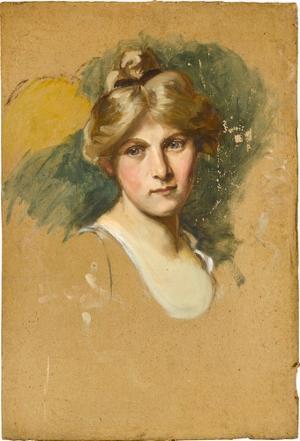 Weiblicher Kopf, Porträtskizze, nicht datiert