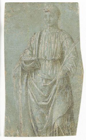 Stehender Märtyrer mit Buch und Palmzweig, um 1470