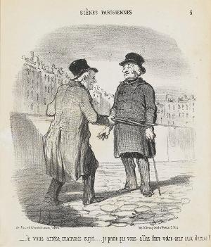 Ich verhafte Sie, Sie Wüstling... Ich wette Sie machen schon wieder den Frauen den Hof!, 1852