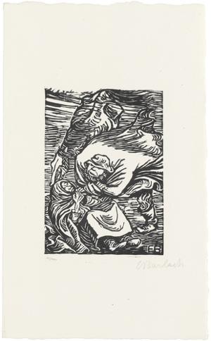 Mann, Frau und Pferd (Gruppe im Sturm), 1919