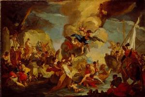 Errettung der Hll. Cosmas und Damian, 1717/18