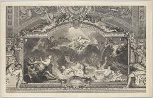 Ite, Deae Pelagi (Deckengemälde in der Grande Galerie des Palais Royal in Paris), 1717