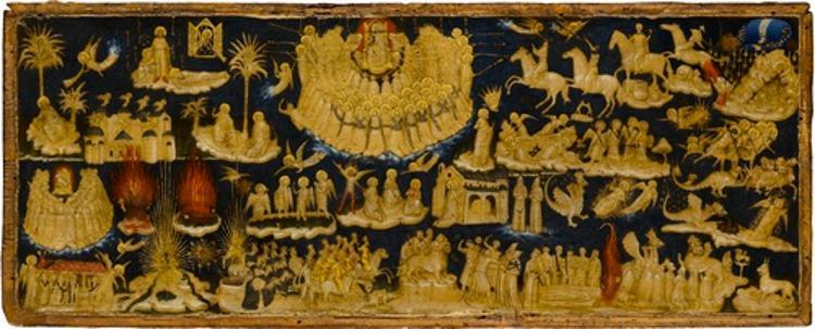 Szenen der Apokalypse des Johannes (Kapitel 1-13)