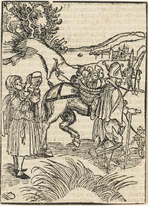 Von der Bettelei (aus: Sebastian Brant, Das Narrenschiff), 1494