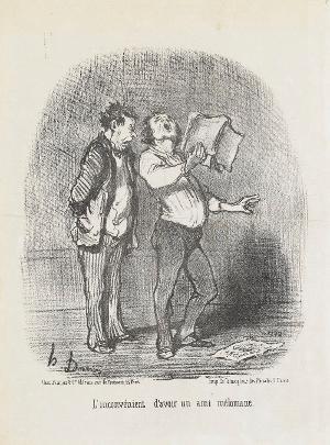 Einen Musikliebhaber als Freund zu haben, hat schon gewisse Nachteile (Le Charivari, 12.12.1851), 1851