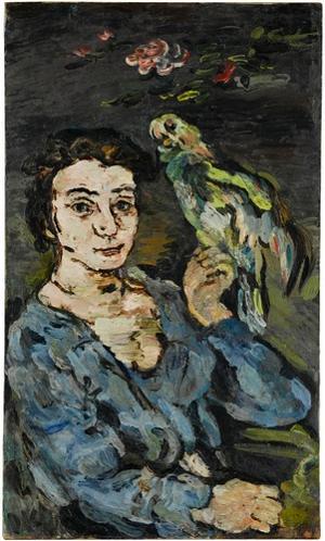 Dame mit Papagei, 1916