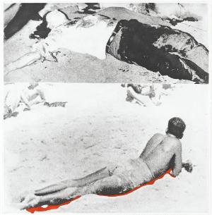 Zwei Figuren (eine mit Schatten) (Blatt 1 in: Hegels Keller), 1986