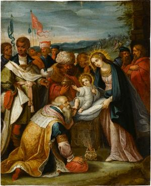Anbetung der Könige, Ende 16. Jh.