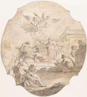 Die Enthauptung Johannes des Täufers, 1758
