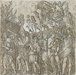 Die Musikanten (Blatt 8 in: Der Triumphzug Caesars), 1598/99