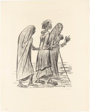 Drei graue Weiber (Blatt 8 aus: Die Ausgestoßenen), 1922