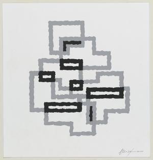 Komposition in Schwarz-Grau, 1964