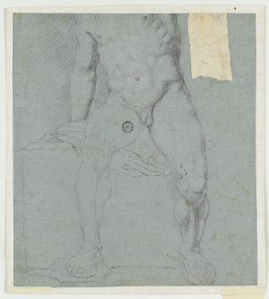 Die Versöhnung von Jakob und Esau; verso: Zeichnung eines männlichen Aktes, 1623-1660