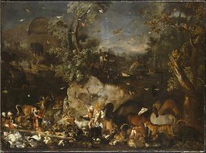 Zug der Tiere in die Arche Noah, um 1680