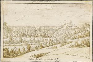 Landschaft mit Castello di Landi bei Turbigo, 1626