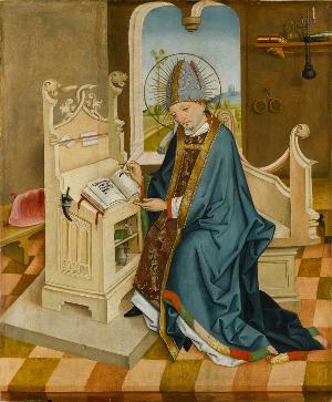 Der Heilige Ambrosius, um 1470