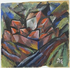 Häusergruppe; verso: Skizzen, 1914/15