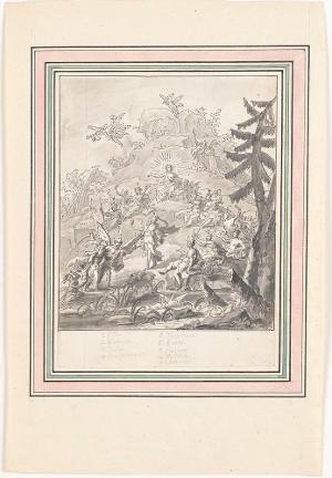Apoll und die Musen, nicht datiert