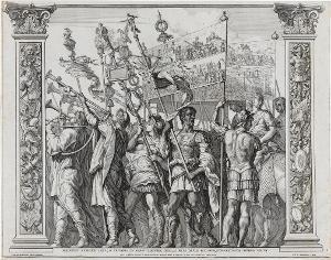 Die Trompeter (Blatt 1 in: Der Triumphzug Caesars), 1692