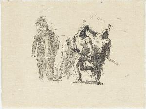 Athena hält Achill zurück, Agamemnon zu töten, um 1930