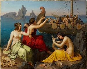 Odysseus und die Sirenen, 1829