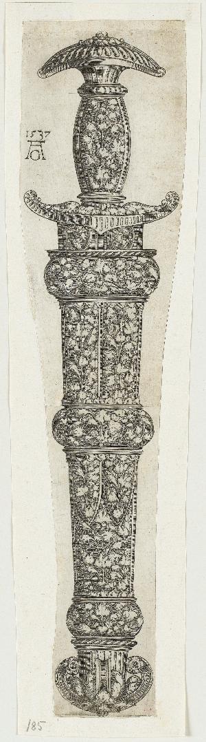 Reichverzierte Dolchscheide, 1537