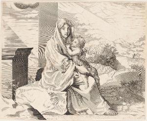 Madonna mit Kind in Landschaft, nicht datiert