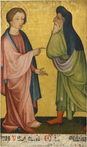 Sogenannter Ulmer Hochaltar: Matthias und Daniel, um 1400
