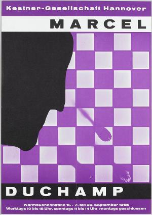 Ausstellungsplakat Marcel Duchamp, même, Hannover, 1965, 1965