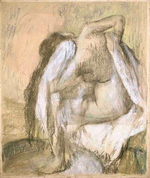 Le tub, femme s'essuyant »La Toilette« (Das Wannenbad, Frau sich abtrocknend), um 1889