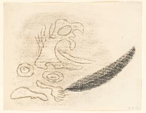 Sturm, Blatt 7: »So böser Tau, als meine Mutter je / Von faulem Moor mit Rabenfedernstrich, / Fall' auf euch zwei! Ein Südwest blas' euch an / Und deck euch ganz mit Schwären!«, 1943