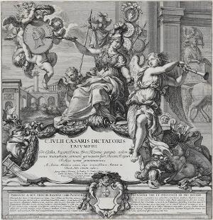 Titelblatt (in: Der Triumphzug Caesars), 1692